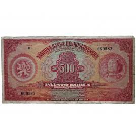 500 Kč 1929, série H